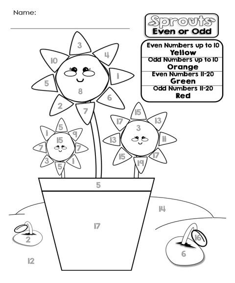 Even and Odd Numbers Great primary math worksheet. Follow