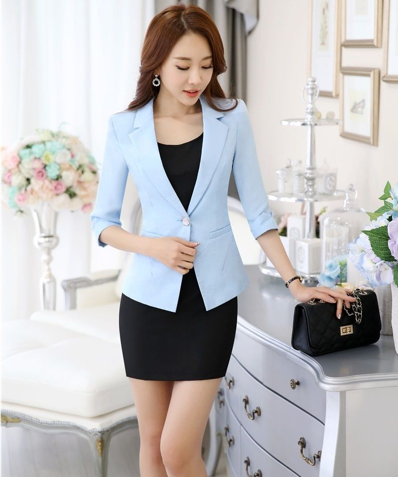 spring summer formal uniform design office suits jackets and dress