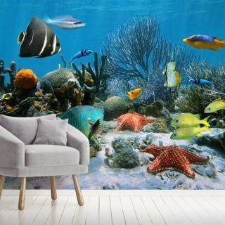 Coral Reef Wallpaper Wallsauce Us In 2021 Wallpaper Mural Mural Wallpaper