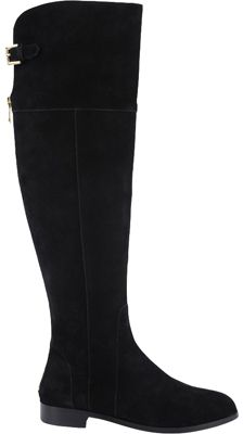 Women\'s Charles David Reed Wide Calf Boot - Black Suede Boots ...