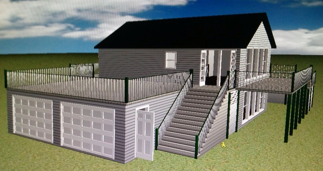 Deck Over Garage Addition Porch Over Garage Garage