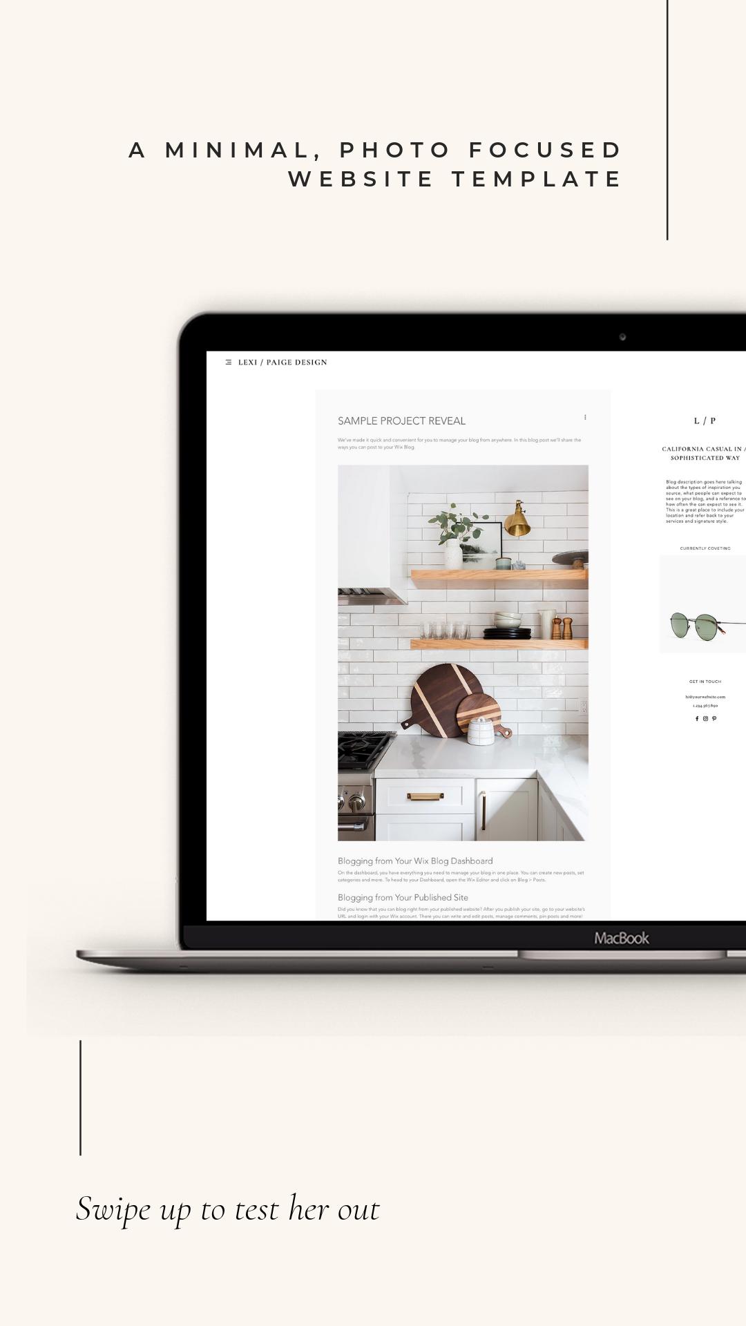 Meet The Lexi Beautiful Minimal Web Design Template For Interior Designers On Wix B Minimal Web Design Interior Design Website Templates Web Template Design