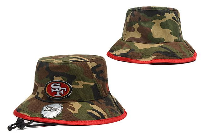 NFL San Francisco 49Ers Bucket Hats Camo! Only  8.90USD  73fe36241