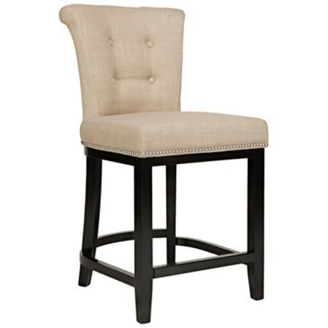 "angelo:HOME Lexi Sandstone Khaki Brown 24"" Counter Stool -"