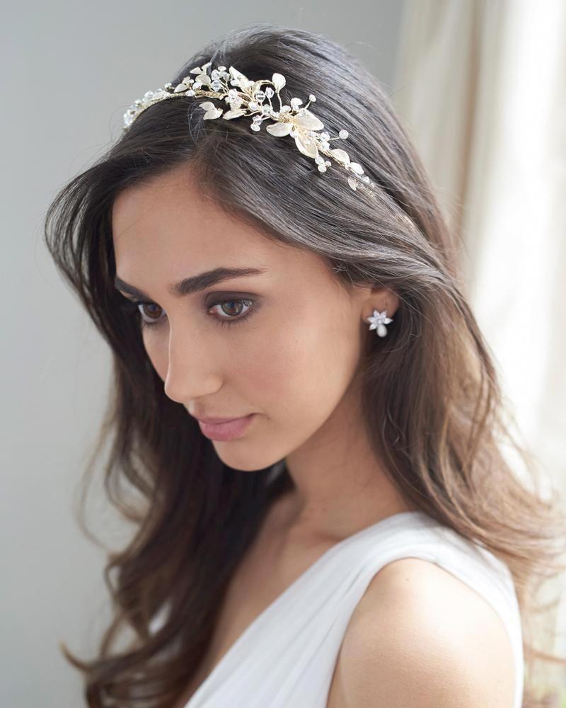 lani side headband, bridal hair accessories, bridal wedding