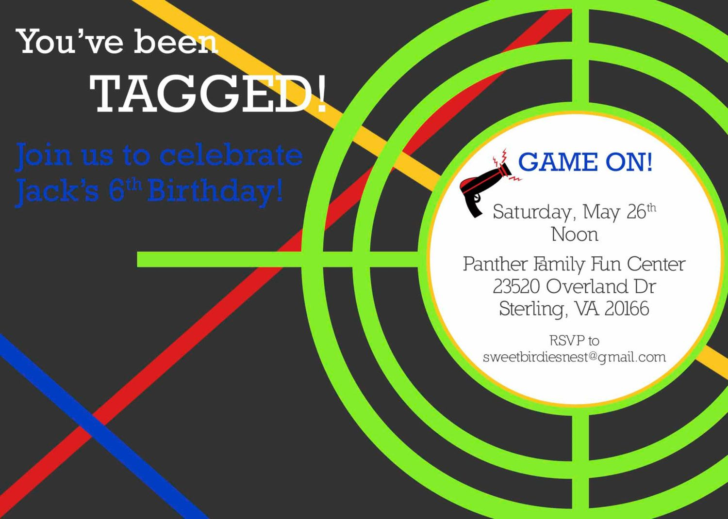 laser tag party invitation by sweetbirdiesnest on etsy 1500x1071 – Laser Tag Party Invitation