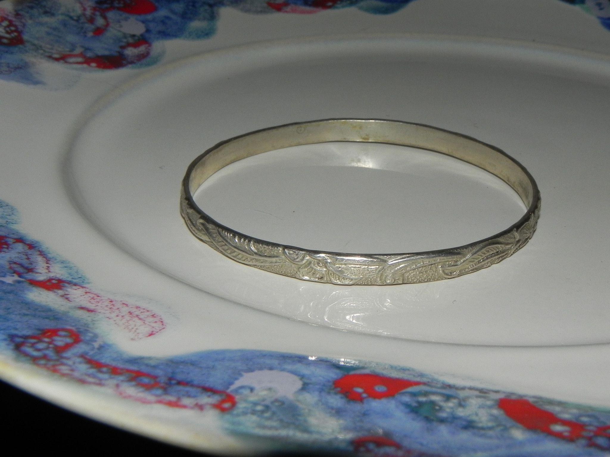 Estate Sterling Bracelet, Mexican Vintage Bangle