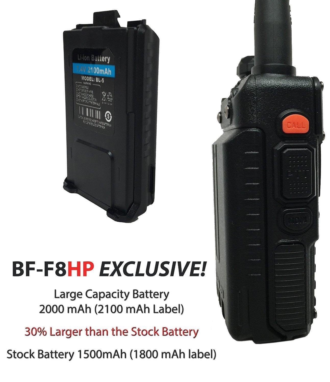 Amazon Com Baofeng Bf F8hp Uv 5r 3rd Gen 8 Watt Dual Band Two Way Radio 136 174mhz Vhf Amp 400 520mhz Uhf In Two Way Radio Ham Radio Equipment Dual Band