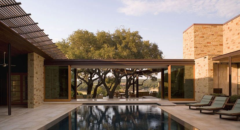 Indoor Outdoor With Trees As A Distant Focal Point