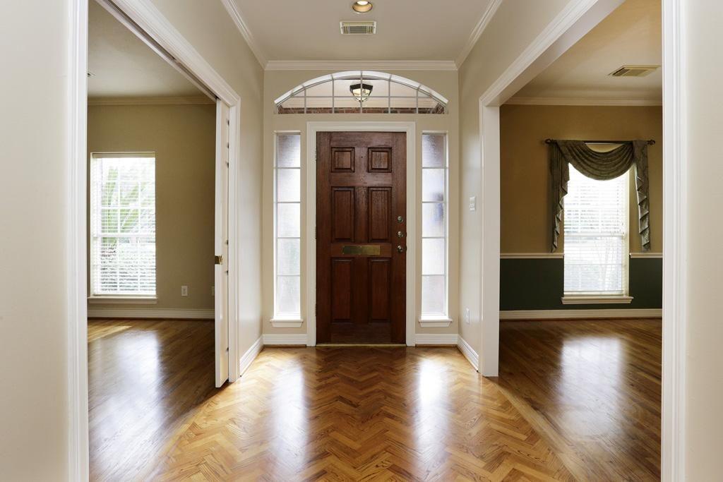 Herringbone Wood Floor Foyer Chevron Parquet Prefinished Hardwood