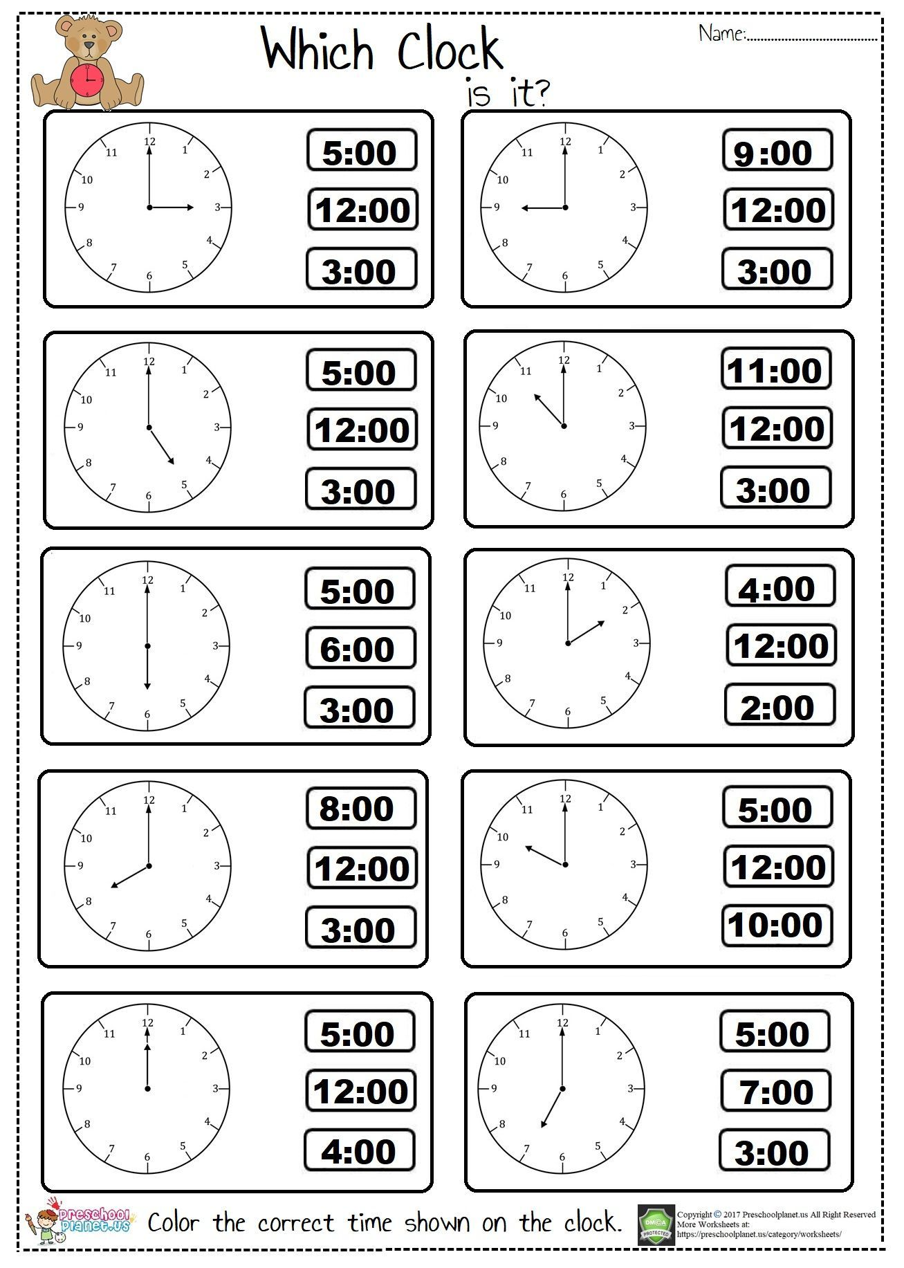 Language Arts Worksheets The Time Worksheets A An The