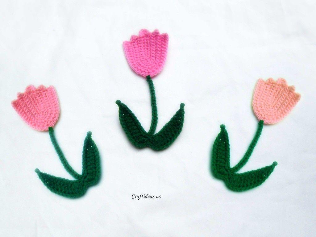 Crochet Tulip - Tutorial   Manualidades y tejidos   Pinterest ...