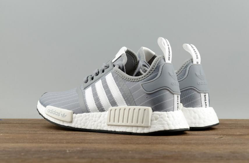 e9acdaff9c28d Adidas Original NMD R1 Bedwin BB3123 White Grey Real Boost Sport Sneakers 10