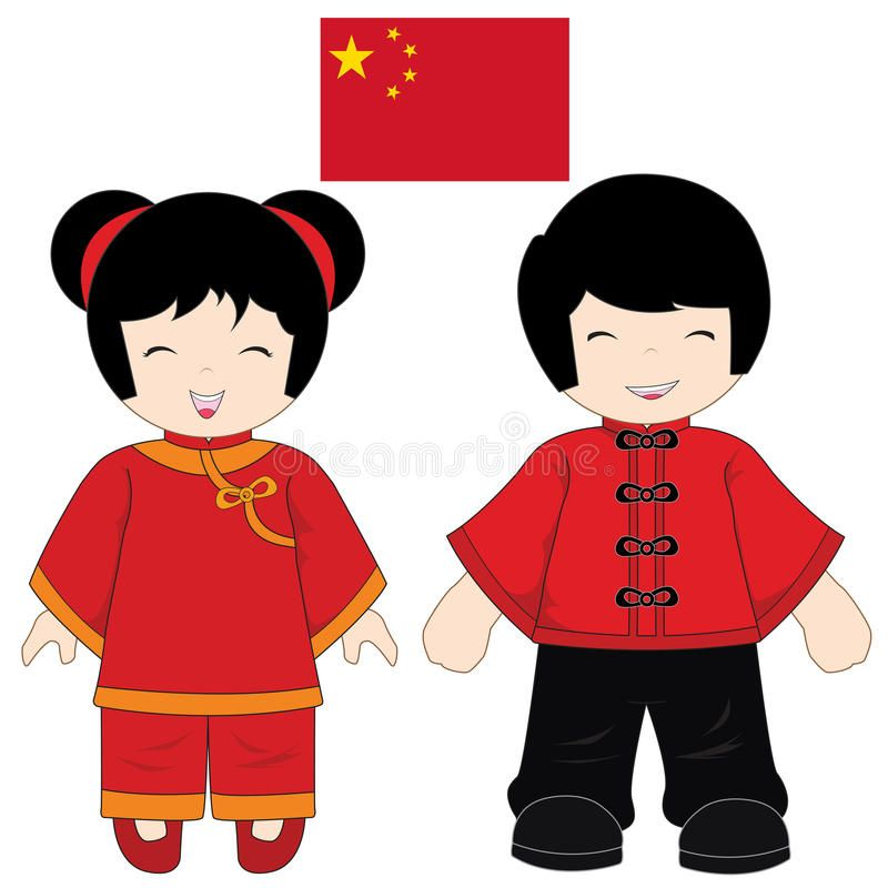 3b1ee21e2 Download China traditional costume stock illustration. Image of smile -  37764204