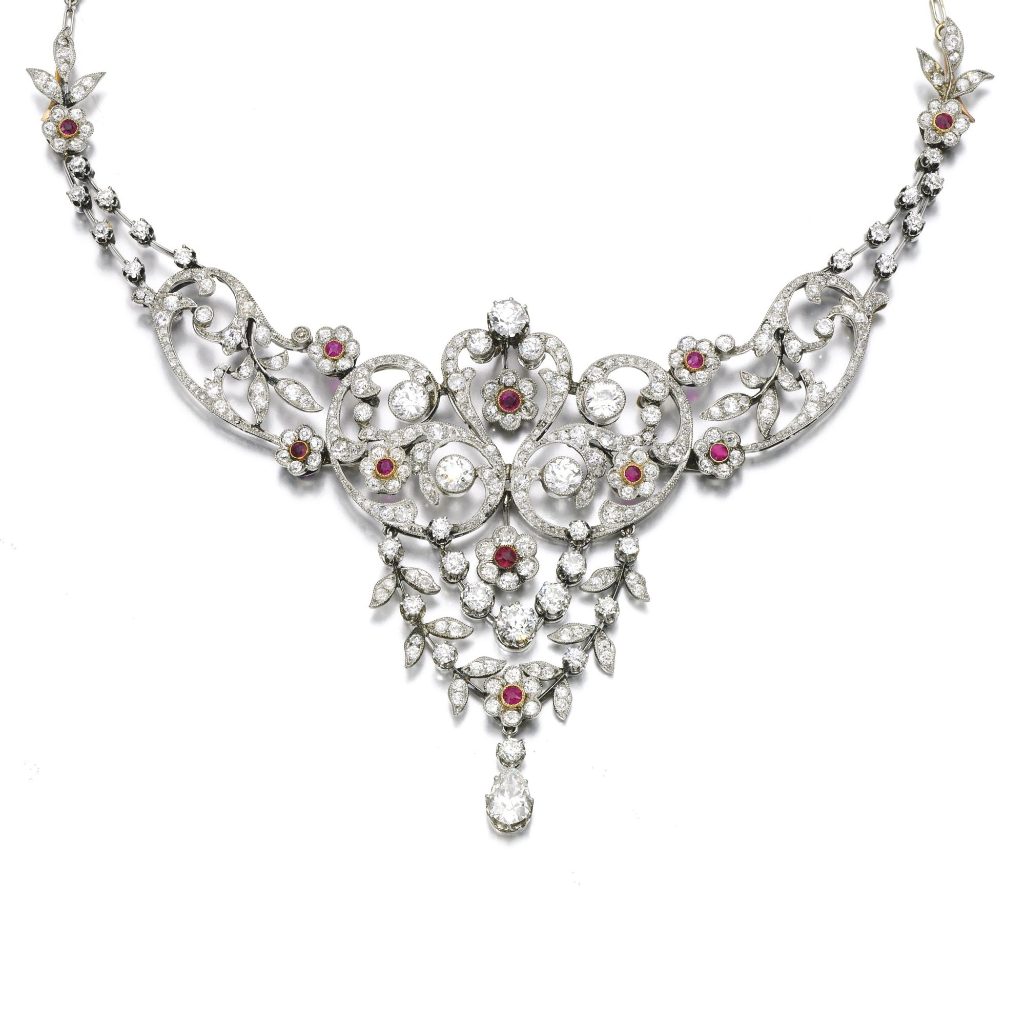 4d149d68ae8 Ruby and diamond necklace