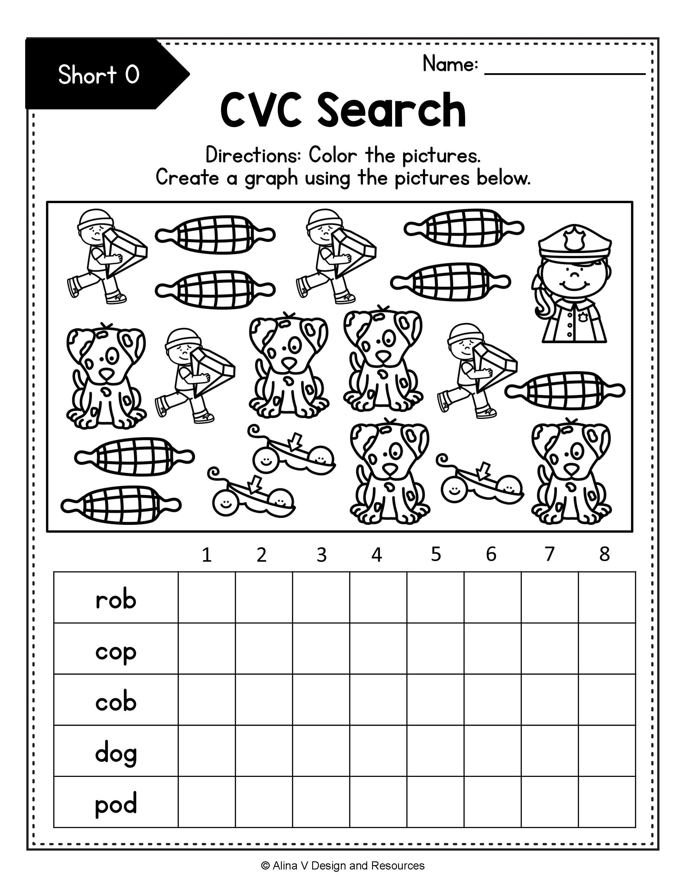 Distance Learning Cvc Words Worksheets Bundle Word