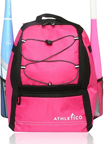 Athletico Youth Baseball Bat Bag Backpack For