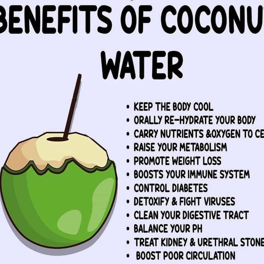 benefits of coconut water . . . #coconut #coconutoil