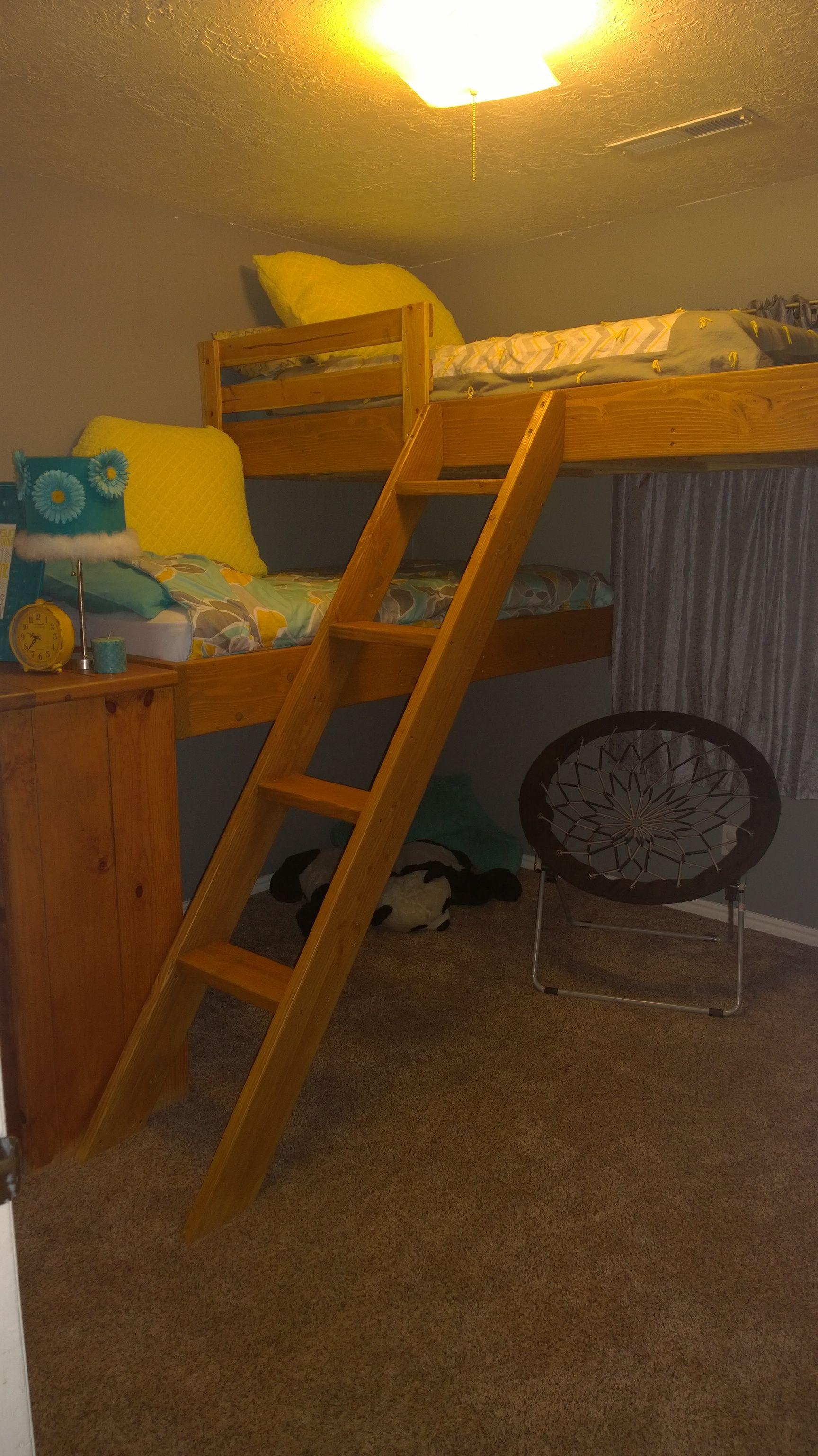 This Is What My Husband Created And Built For My Tween Daughter When She  Said She · Mädchen SchlafzimmerMädchenzimmerHochbettenEtagenbettSelbstgebautes  ...