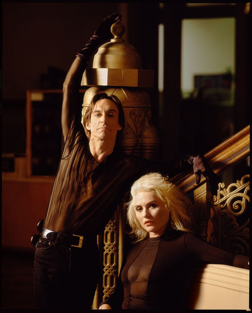 Iggy Pop and Debbie Harry by Timothy White, 1990