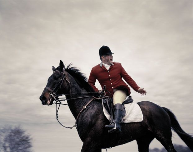 Photo Credit: Andy Anderson. Midland whipper-in John Eaton - This is the hunt not dressage