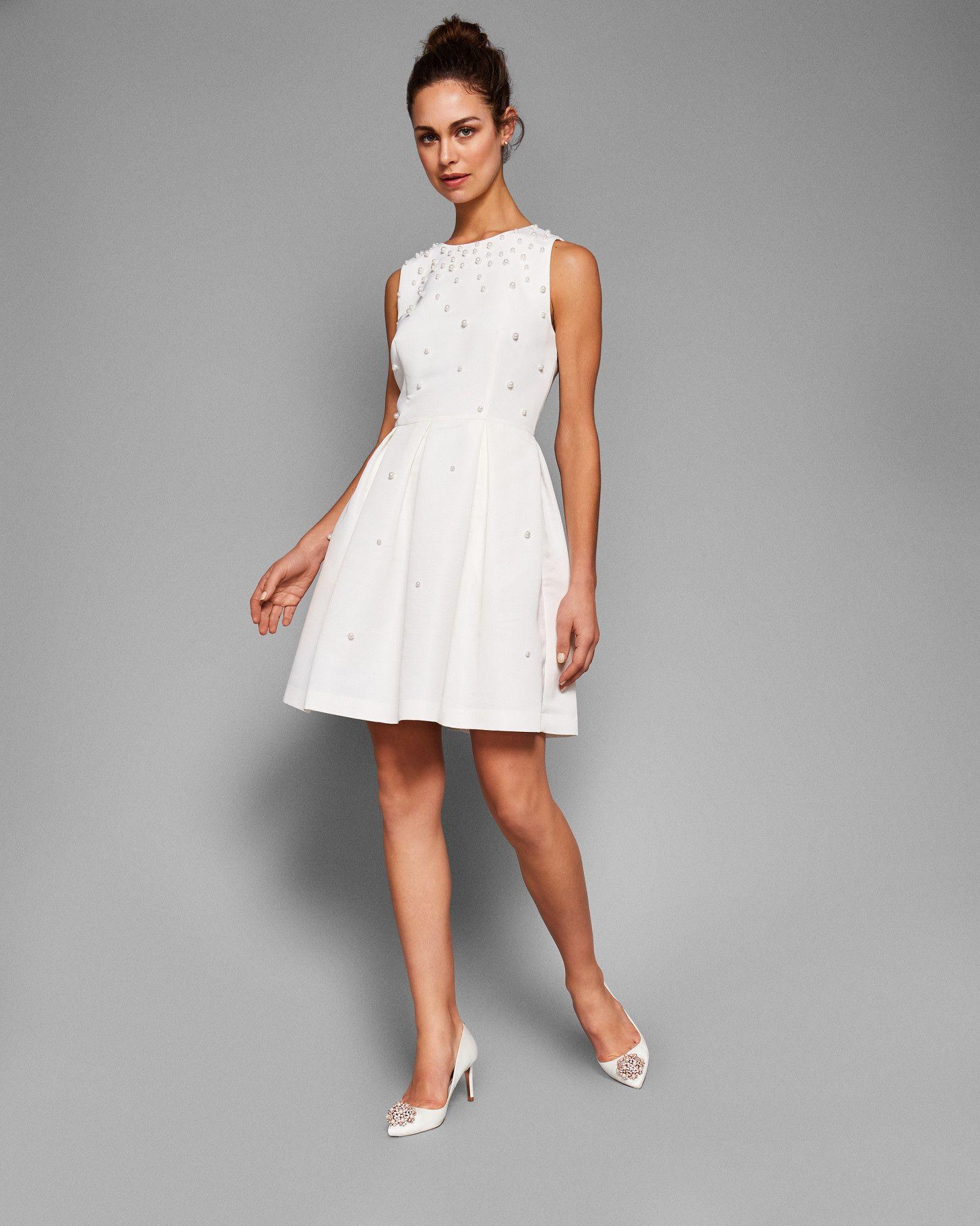 8b252c6c3c6 MILLIEA Pearl embellished skater dress  TedToToe