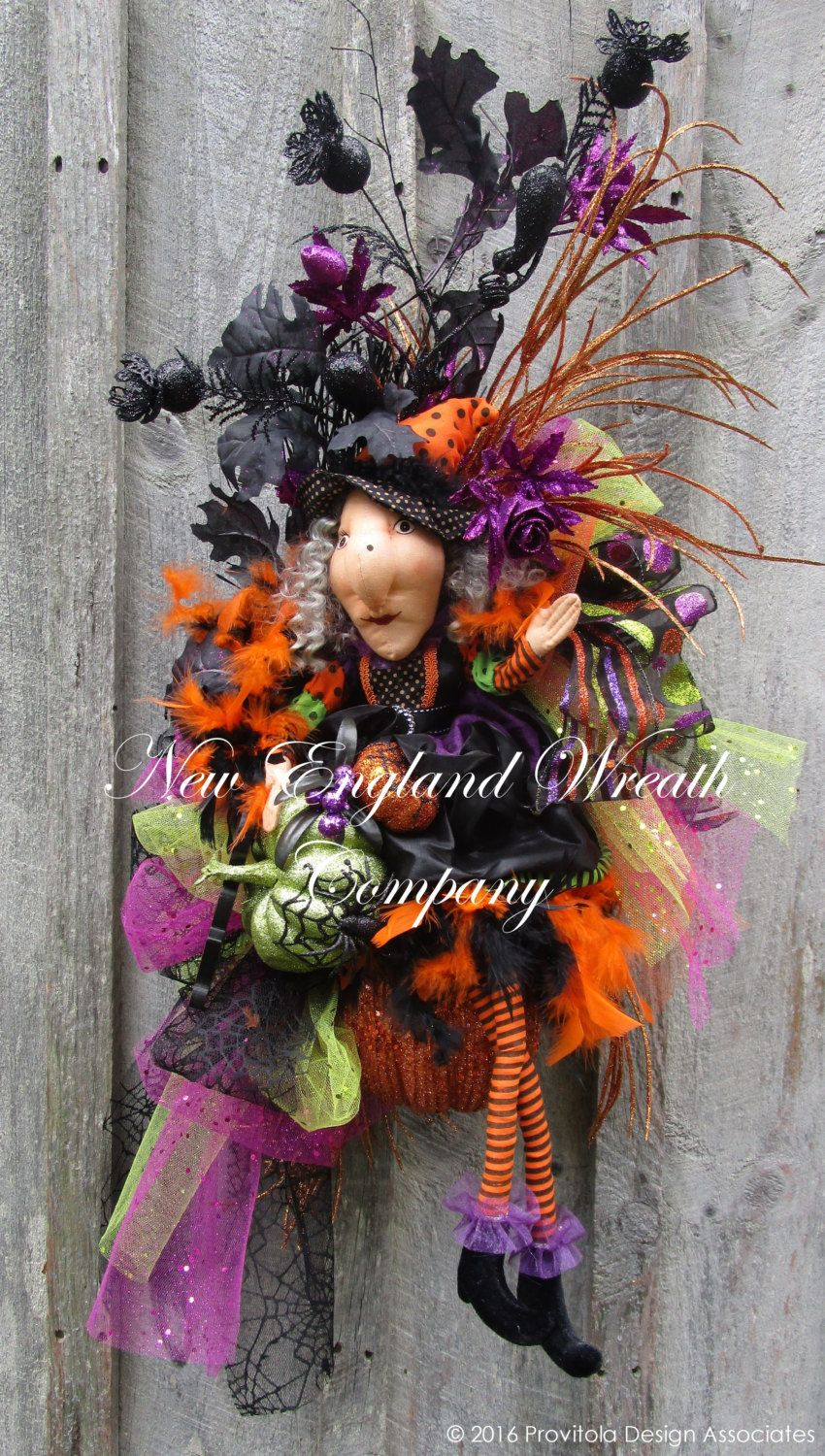 Glamorous Halloween Witch Swag A New England Wreath