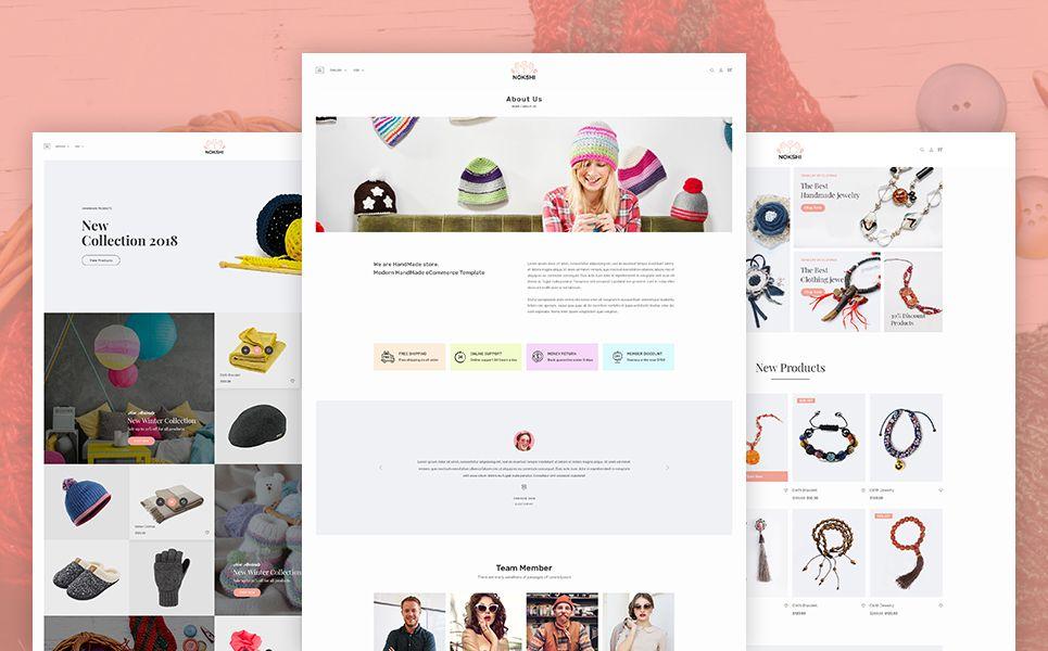 Nokshi Handmade Craft Shopify Theme 70255 Website Template Handmade Crafts Web Design Software