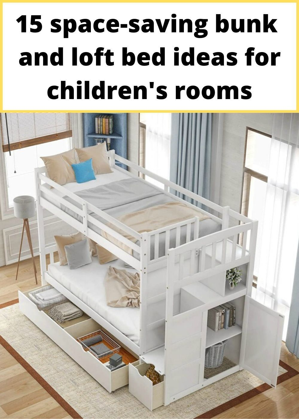 15 Space Saving Bunk And Loft Bed Ideas For Children S Rooms Bunk Beds With Drawers Furniture For Small Spaces Tiny House Hacks