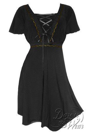 angel dress in black  plus size corset dress gothic