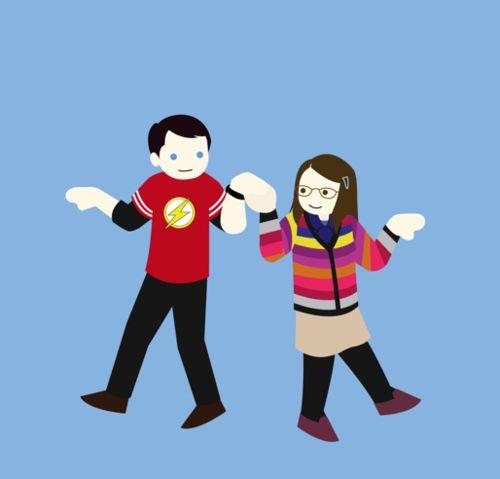 The Big Bang Theory Ni/ñas Character Poster Camiseta