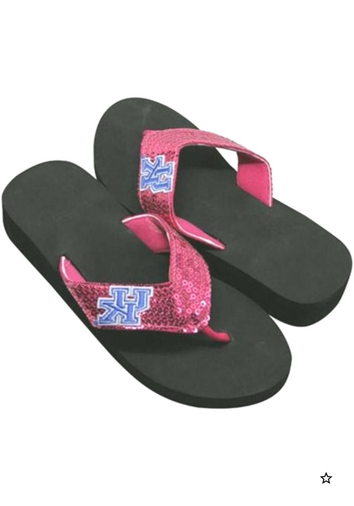 Kentucky Wildcats Sequin Womens Flip Flops  9020452