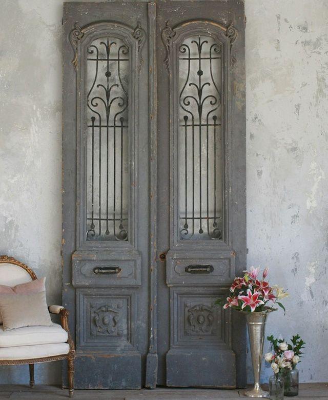 porte ancienne en decoration du0027interieur déco Pinterest Doors - decoration portes d interieur