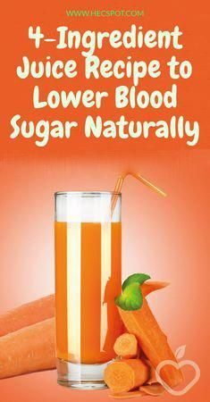 Here is the 4 ingredient juice recipe to lower blood sugar naturally.