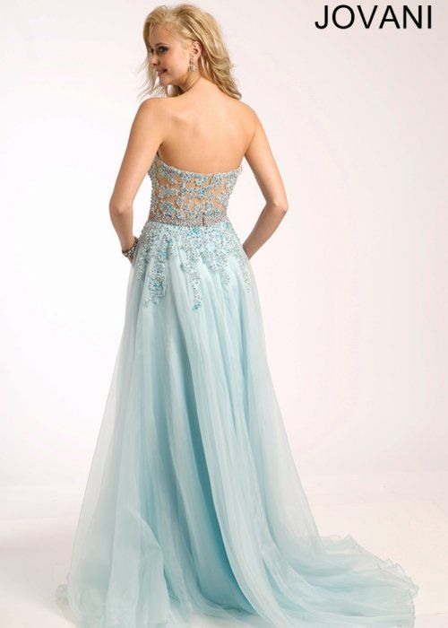 Stunning Cinderella light blue prom dress 2015 by Jovani, featuring ...