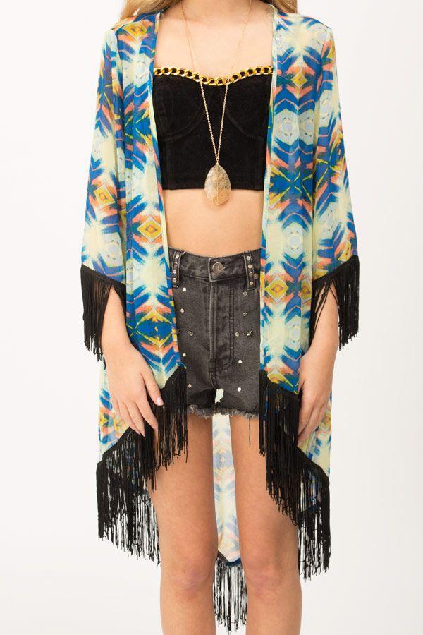 Boho Fringe Kimono