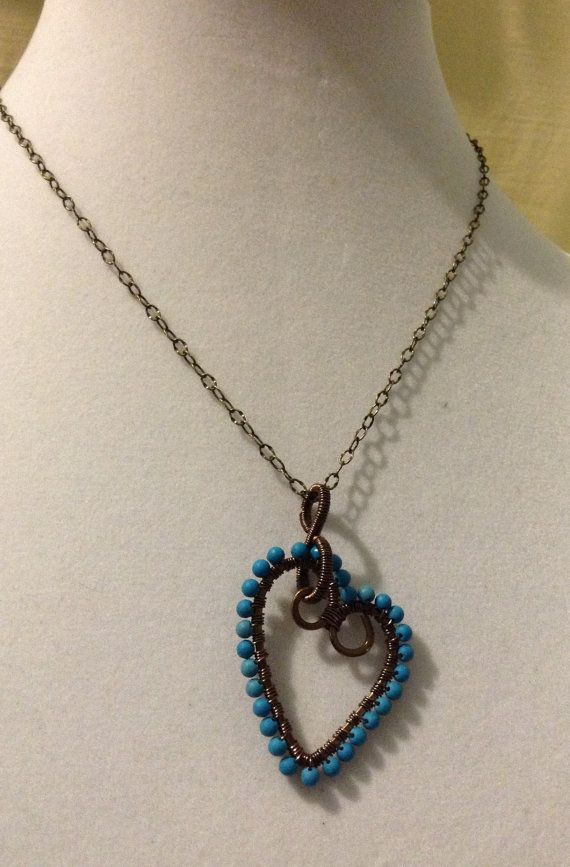 Blue Howlite Handcrafted Pendant Necklace by SherryLynnJewelry