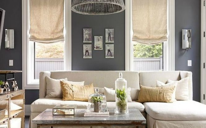 Grey Walls Are A Lovely Choice For Cream-colored Furniture