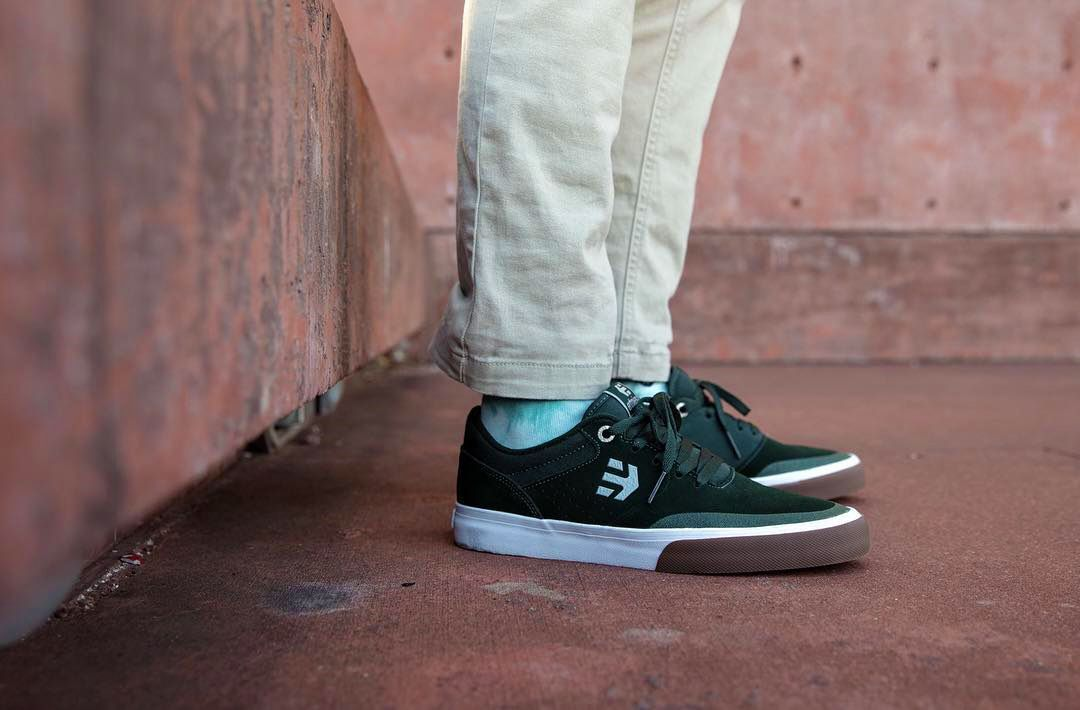 Etnies Skateboard Shoes Marana Vulc Green//Black