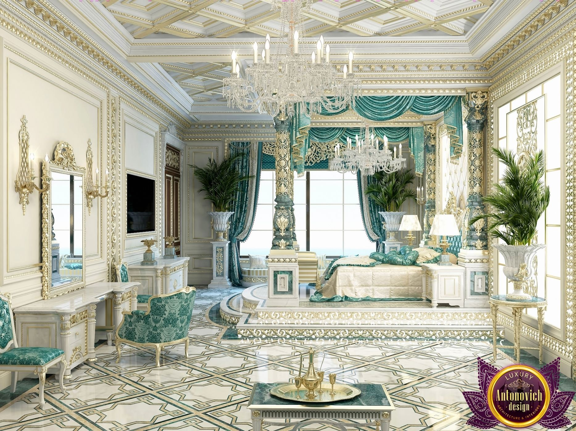 Bedroom Design in Dubai luxury Royal Master bedroom design