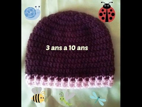 Youtube Bonnet Enfant Crochet Bonnet Crochet Et Bonnet Enfant