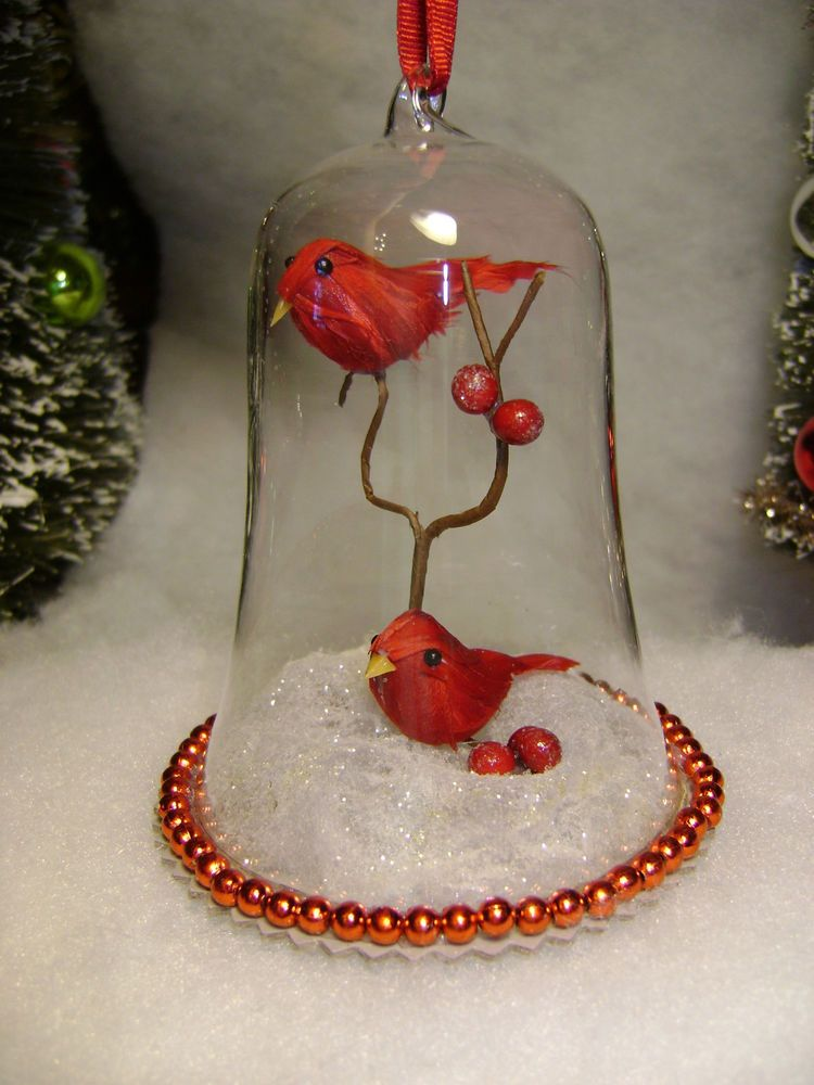 Martha Stewart Cardinal Red Bird in Bell Christmas Tree ...