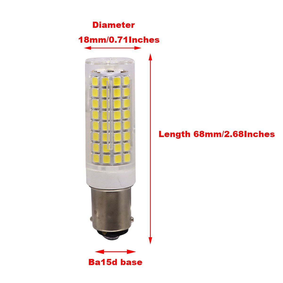 Ylaide Ba15d Led Light Bulb Dimmable 75w Equivalent Double Bayonet Sewing Machine 110v 120v Input 75w 100w Halogne Bulbs Replace In 2020 Light Bulb Led Light Bulb Bulb