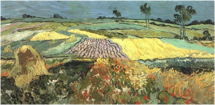 Wheat Fields Near Auvers Painting Oil On Canvas Auvers Sur Oise June 1890 Osterreichische Gal Van Gogh Art Vincent Van Gogh Paintings Van Gogh Paintings