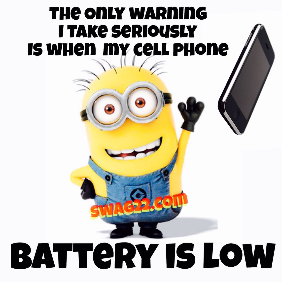 Funny Minion Picture Quotes About Cell Phones And Warnings Lol.