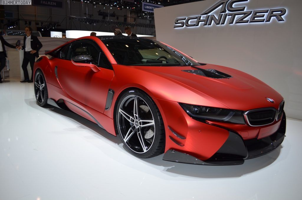 Image Of 2017 Ac Schnitzer Bmw I8 Carbon Tuning Inferno Red Chrome