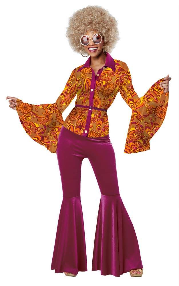 Womenu0027s Funky Disco Diva Costume - Candy Apple Costumes - Womenu0027s 60s u0026 70s Costumes  sc 1 st  Pinterest : 70s costumes for womens  - Germanpascual.Com