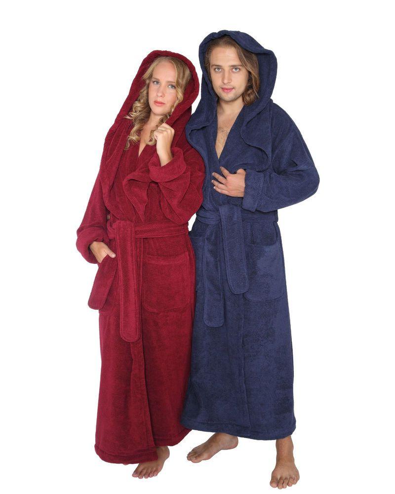 details zu bademantel monk damen herren extra lang und weit mit kapuze saunamantel hooded. Black Bedroom Furniture Sets. Home Design Ideas