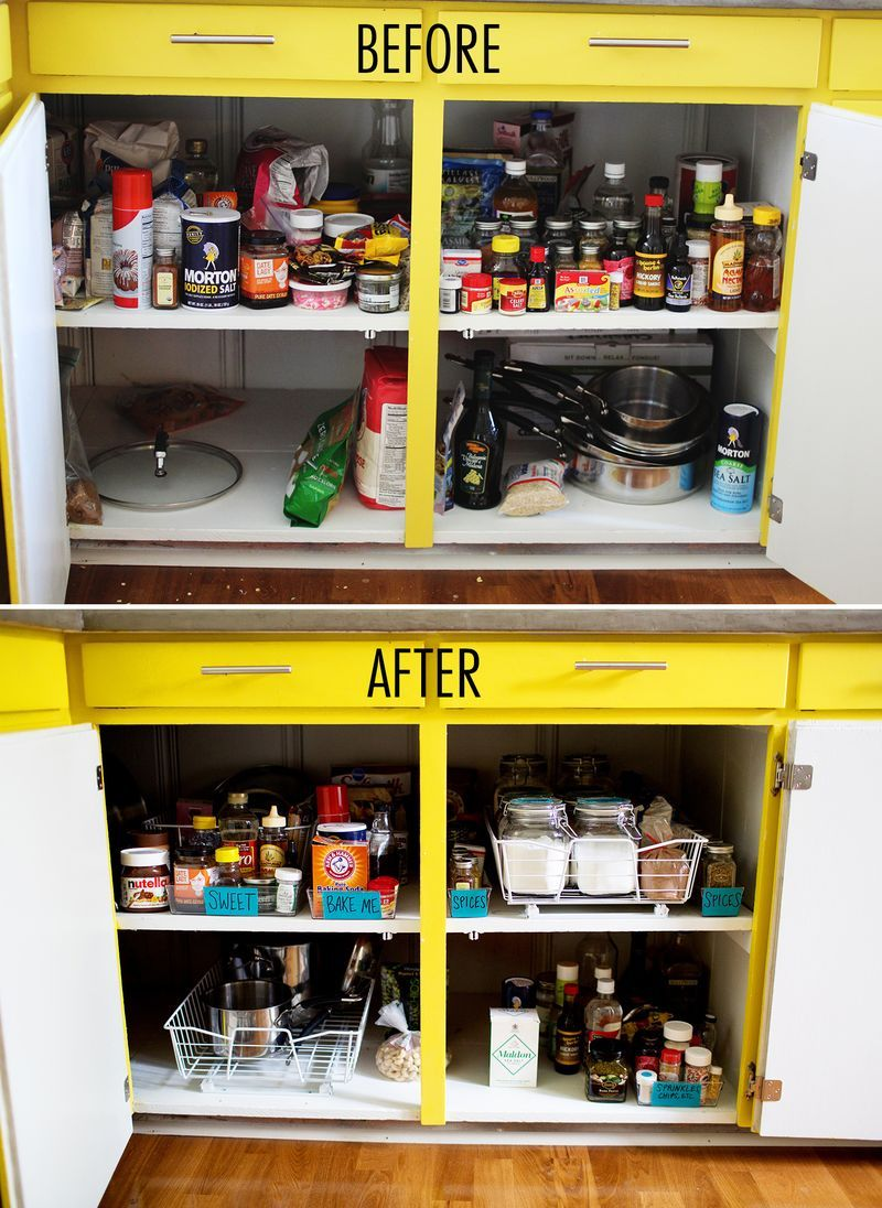 This Step By Guide To Kitchen Organization Can Save Even The Most Cluttered Cabinets Take Your Time With Visual Labels And Product Categorization