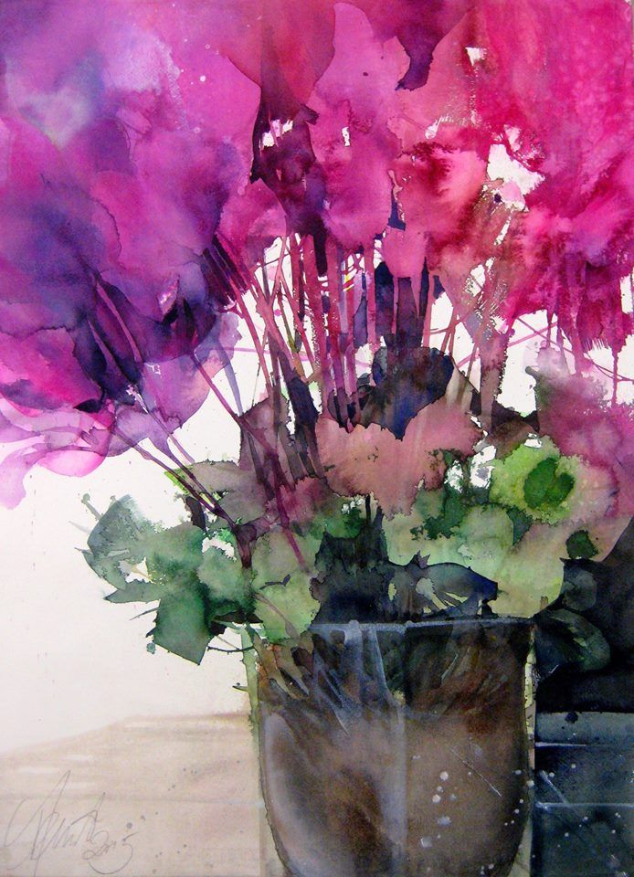 Painting By Elke Memmler Flower Painting Abstract Flowers